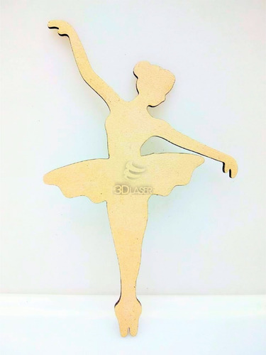 Imagen 1 de 3 de Bailarina Silueta X 10u - Mdf / Fibrofacil