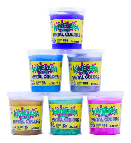 Kimeleka Slime Metal Colors Acrilex 180g