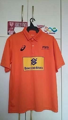 Camisa Vôlei Oficial Brasil.
