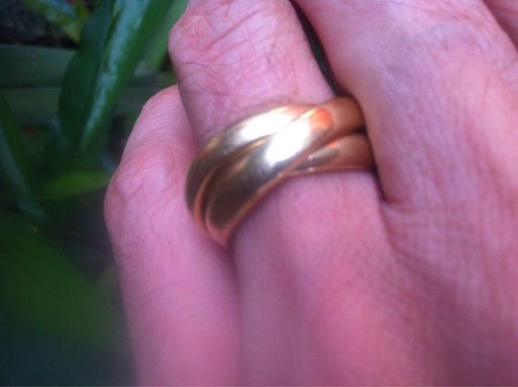 Anel Aliança Ouro 750 23gr #21