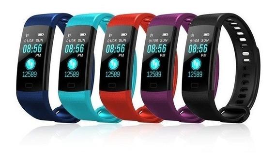 Relógio Smartband Y5 Goral Pressão Arterial Batimentos Smart