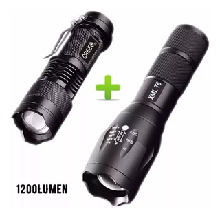 Kit Lampara Tactica 3000 Lumens +mini Lampara 1200 Lumens
