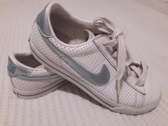 Zapatillas Nike Colegial Cuero Talle 32