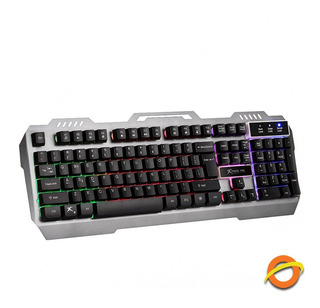 Teclado Gamer Retroiluminado Luz Led Rgb Gaming Usb Pc