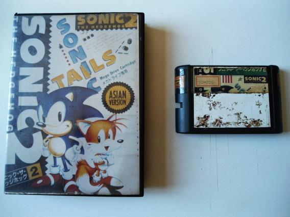 Cartucho Sonic 2 Para Mega Drive! Capa E Estojo!