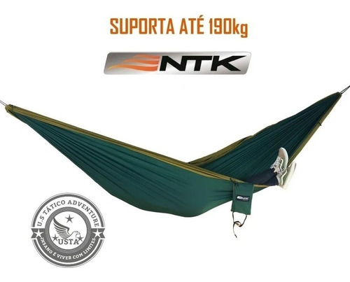 Rede Descanso King Size 190kg Verde/cinza Nautika Camping Uv