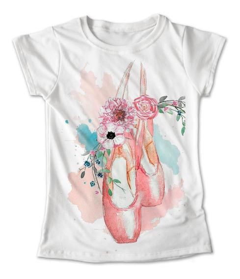 Blusa Danza Colores Playera Ballet Zapatillas Flor #208