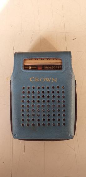 Rádio Antigo Portátil Crown Japan Six Transitor