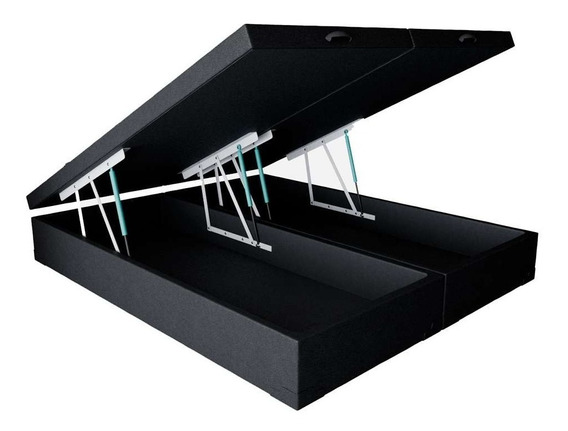 Base Para Cama Box Queen Premium Com Baú Corino (45x158x1...