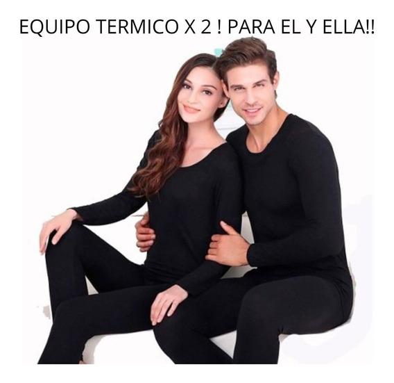 Promo X 2 Equipos Termicos! Camiseta+calza! Para El Y Ella!!