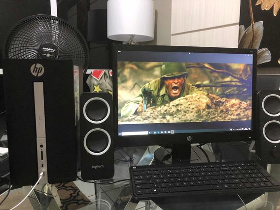 Computador Hp 7 Geração A10-9700 C/ Monitor 21 Comprado Eua