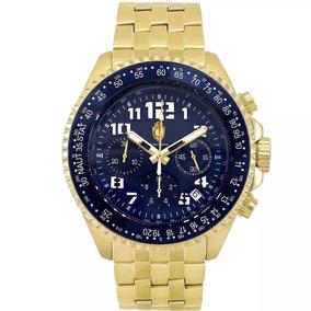 Relógio Constantim Chronograph Gold Blue