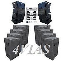 Line Array C/ Sub 1x12+ti Snake + Etelj - 28500 Rms - 4vias