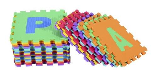 Imagen 1 de 4 de Alfombra Goma Eva Puzzle Alfabeto 26 Piezas 30 X 30 Cm.