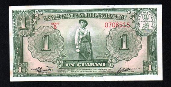 Paraguay Billete 1 Guarani Año 1952 P#185b Serie B Unc (pequ