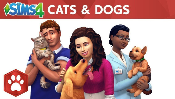 The Sims 4 Pc Cats & Dogs Dlc Origin Key Cd Digital Original