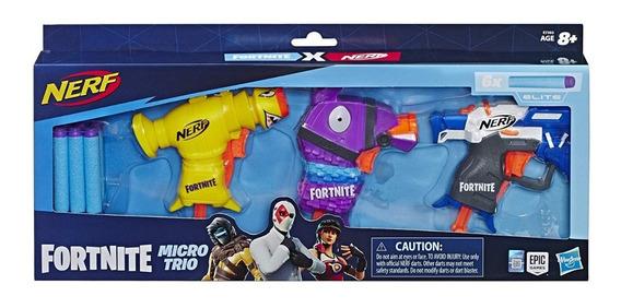 Juguete Fortnite Micro Trio Lanzador Nerf Fortnite X Set 3p