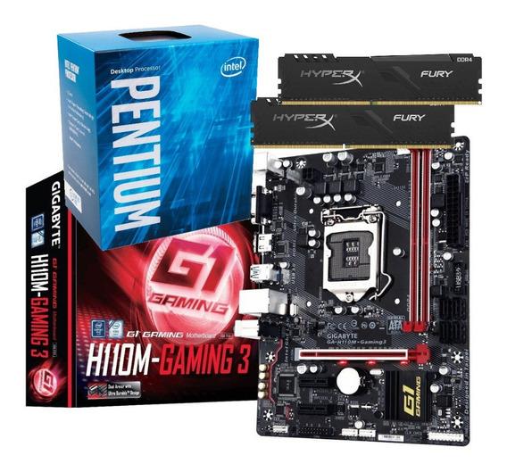 Kit Processador G4560 H110m Gaming 3 2x 8gb Fury Hyperx