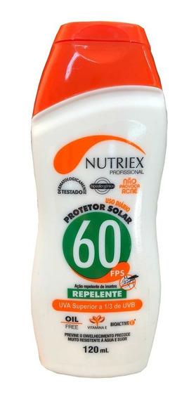 Protetor Solar C/ Repelente Fps60 Uva 120ml Original Nutriex