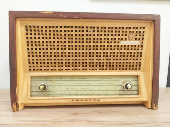 Radio Antigo Philips Sensitive 4 Faixas Ano 1961 * Restauro