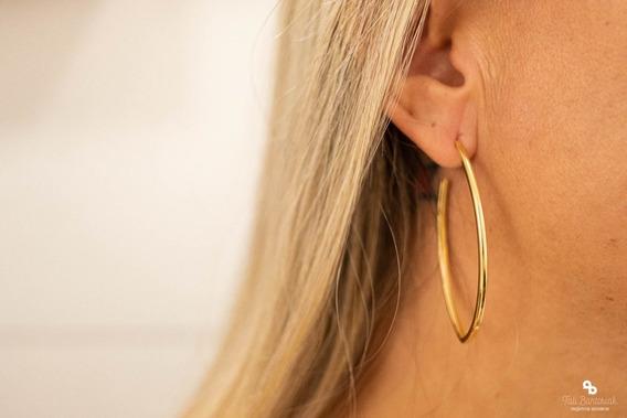 Brinco De Argola Feminino Dourado Banhado A Ouro 18k