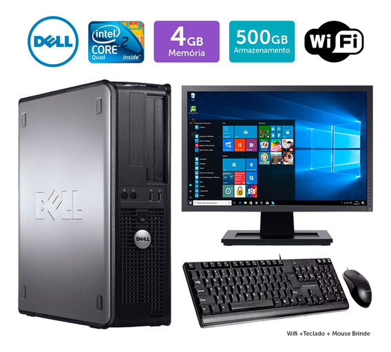 Desktop Barato Dell Optiplex 780int C2quad 4gb 500gb Mon17w