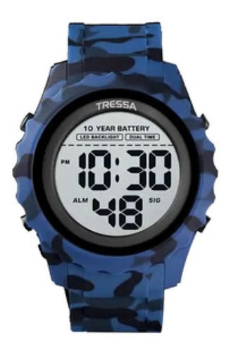 Reloj Tressa Digital Sumergible Militar Con Luz Garantia