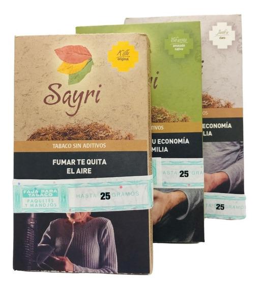 Tabaco Sayri 25gr Sin Aditivos Local Once