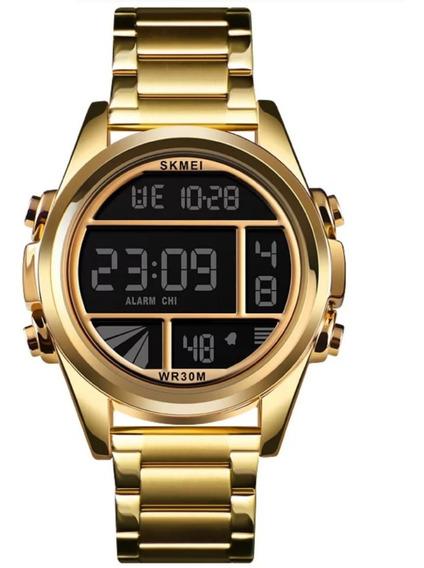 Relógio Masculino Skmei 1448 Aço Inoxidável Adultos Original