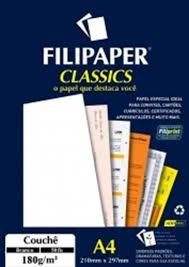 Papel Couchê Filipaper Classics Branco