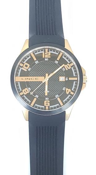 Relógio Masculino Lince Mrp4271s Ouro Rose Original Novo
