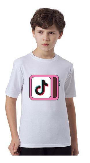 Los Niños De La Moda Tik Tok Crop Top Camiseta 3 Colores-1
