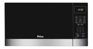 Microondas Philco 26l Pmo26ip Preto Com Inox Envio Imediato