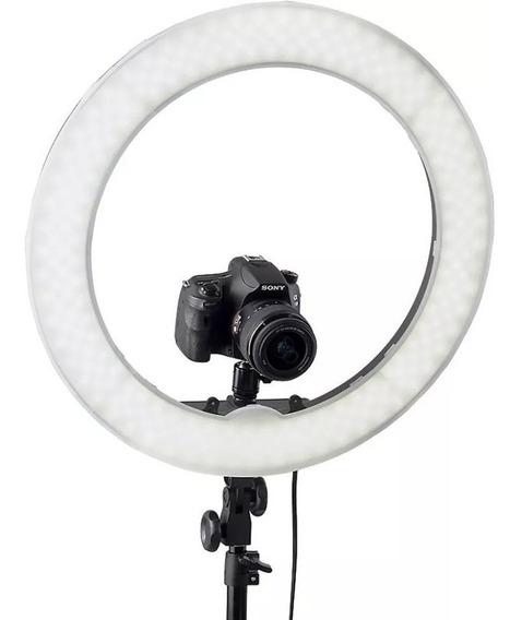 Kit Iluminador Led Ring Light 18 Circular Foto Make Com Tri