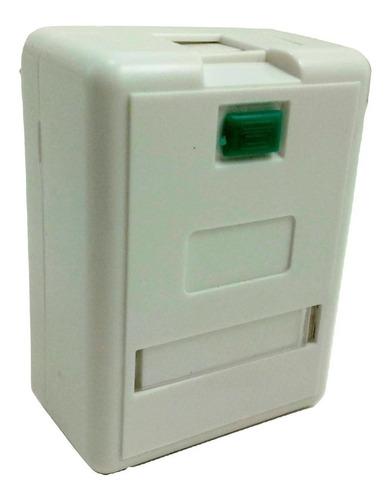 Imagen 1 de 1 de Caja Roseta Rj45 Simple 1 Boca Ficha Plug Cat 5 Y Cat 6 X10