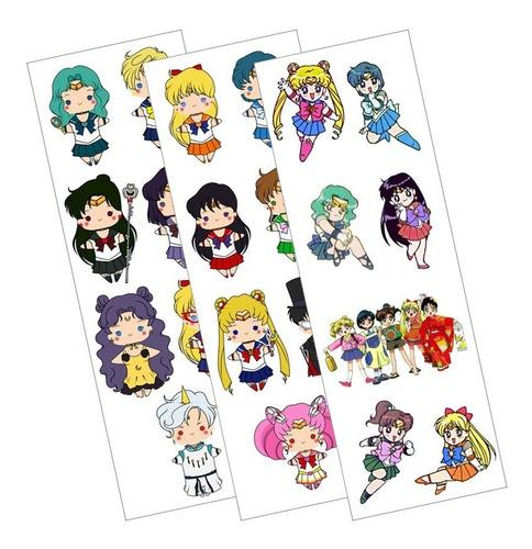 Plancha De Stickers De Anime De Sailor Moon Venus Jupiter