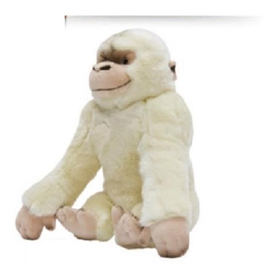Gorila De Pelucia Branco Macaco Macaquinho Antialergico