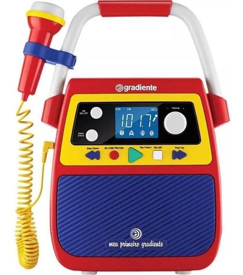 Rádio Portátil Karaoke Meu Primeiro Gradiente Bluetooth
