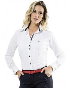 Camisa Social Manga Longa Branca Scarlett
