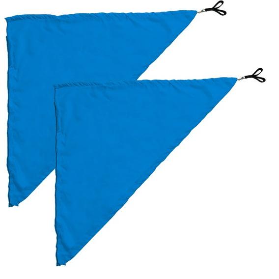 Swing Flag Triangular Azul Claro - 70 Cm X 140 Cm