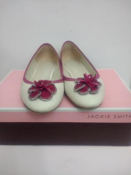 Chatitas Balerina Jackie Smith 37 Moño Flor Fucsia Panna