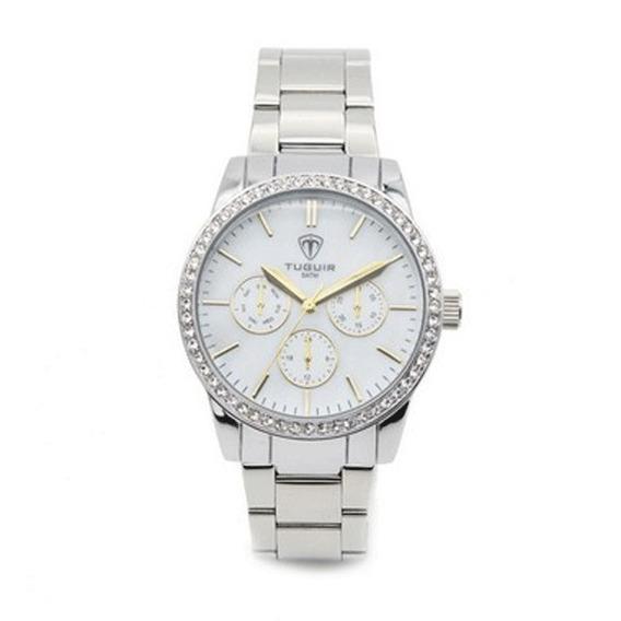Relógio Feminino Prata Tuguir Analógico 5028 Menor Preço