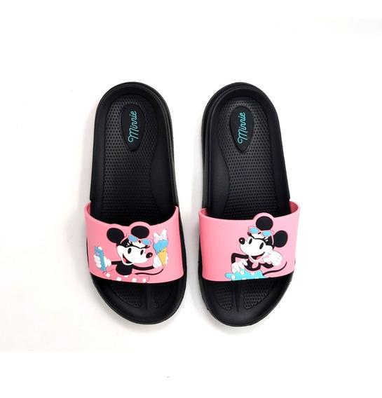 Sandalia Minnie Mouse Slip On Rosa Sticker De Minnie Fashion