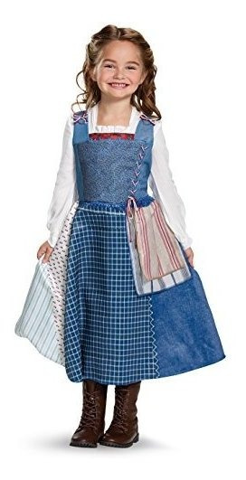Disney Belle Village Dress Deluxe Disfraz De Pelã­cula Mul