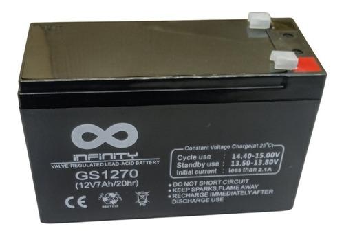 Imagen 1 de 1 de Batería De 12v 7ah Ups, Alarma Y Cercos Eléctricos