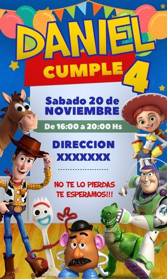 Tarjetas Invitacion Toy Story Souvenirs Cotillón Y