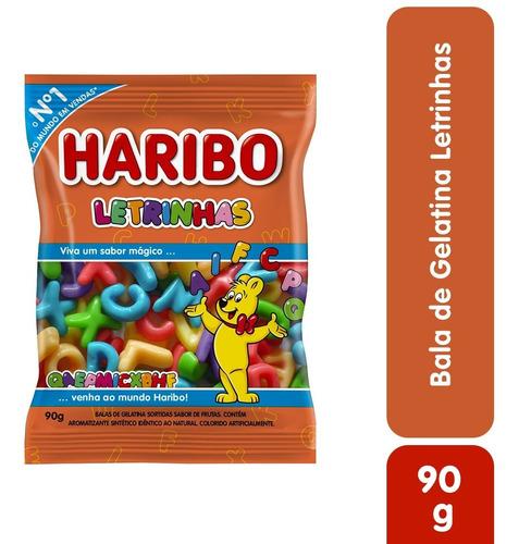 Imagem 1 de 2 de Bala De Gelatina Letrinhas Haribo 90g