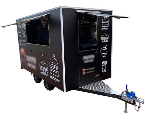 Imagem 1 de 13 de Trailer Food Truck 4m X 2m Com Freio 10x S/ Juros No Cartão