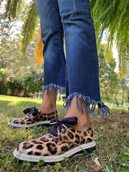 Zapatos Mocasines Mujer Acharolados Cintas Invierno2019 A580