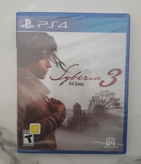 Jogo Syberia 3 Ps4 - Mídia Física Novo Lacrado - Playstation
